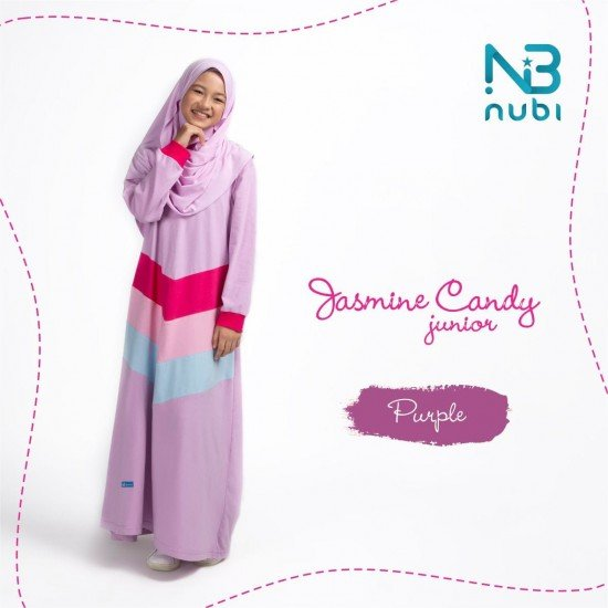 Gamis Remaja Jasmine Candy Junior Purple