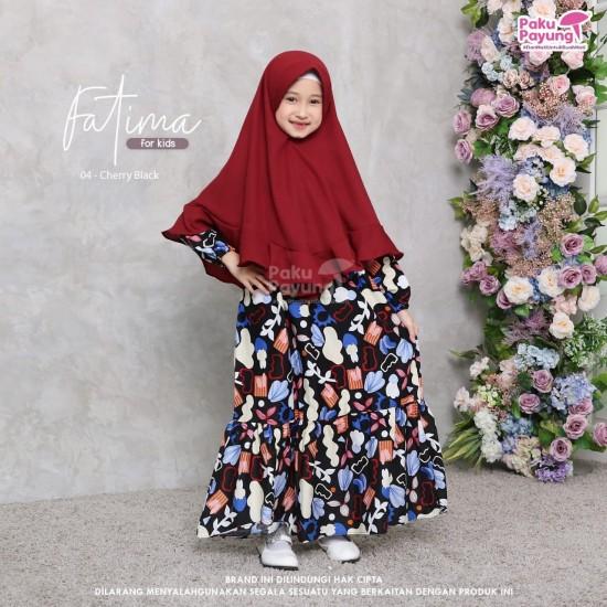 Gamis Anak Fatima Series Cherry Black