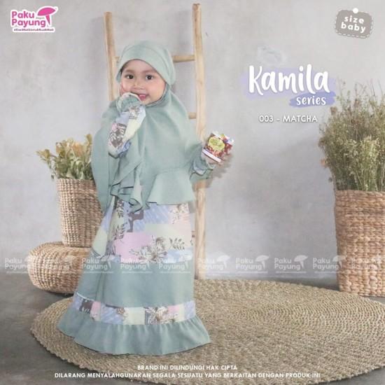 Gamis Anak Kamila Series Matcha