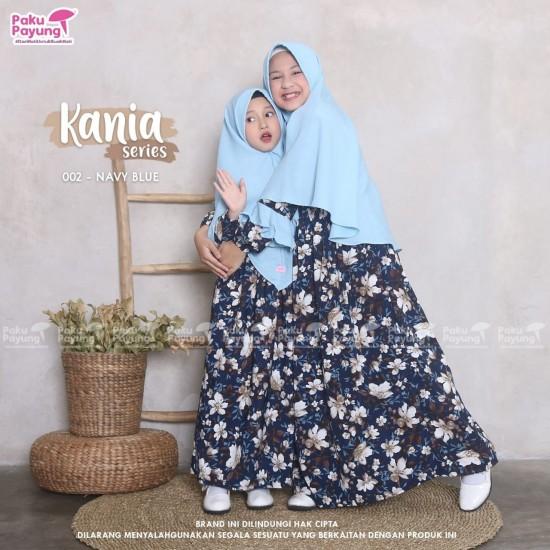Gamis Anak Kania Series Navy Blue