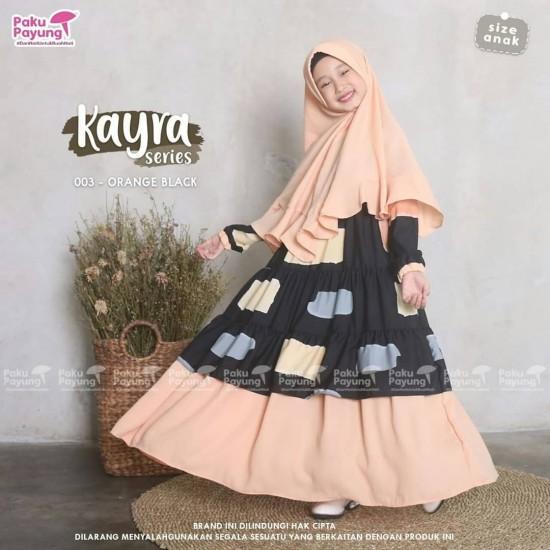 Gamis Anak Kayra Series Orange Black