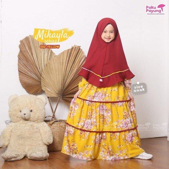 Gamis Anak Mikayla Series Yellow