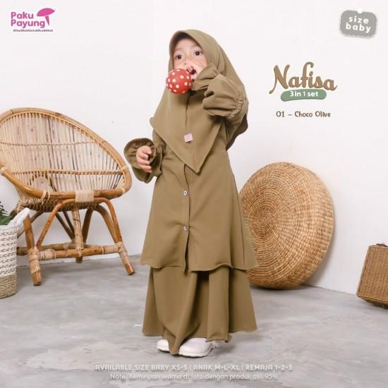 Gamis Anak Nafisa Series Choco Olive