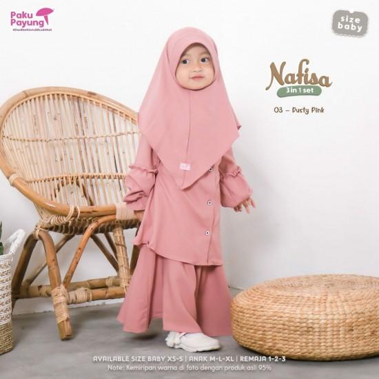 Gamis Anak Nafisa Series Dusty Pink
