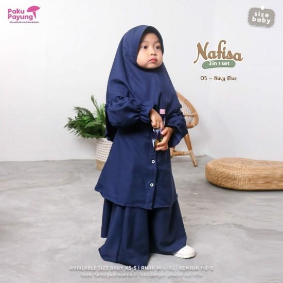 Gamis Anak Nafisa Series Navy Blue