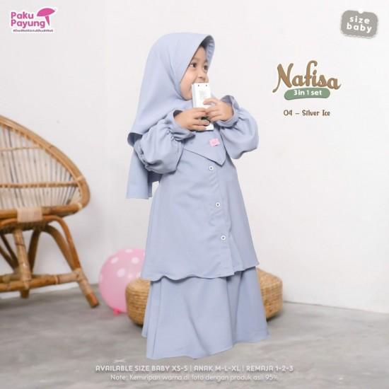 Gamis Anak Nafisa Series Silver Ice
