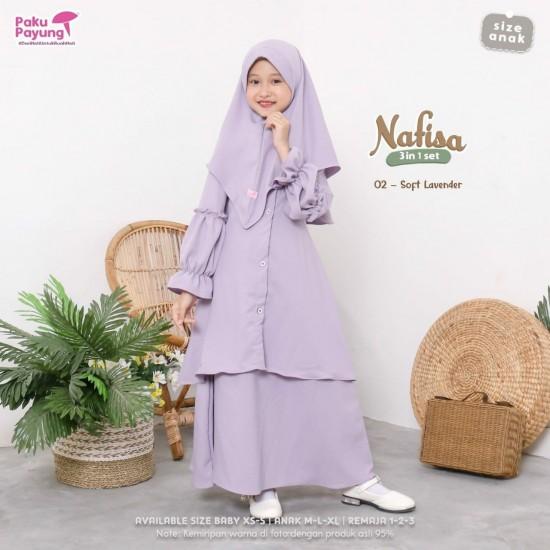 Gamis Anak Nafisa Series Soft Lavender