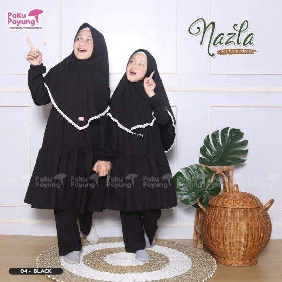 Gamis Anak Nazla Series Black