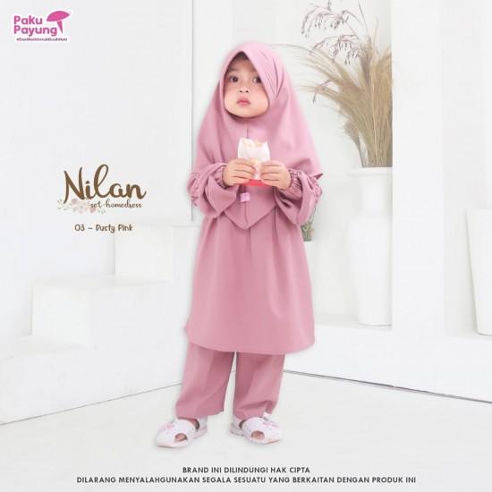 Gamis Anak Nilan Series Dusty Pink