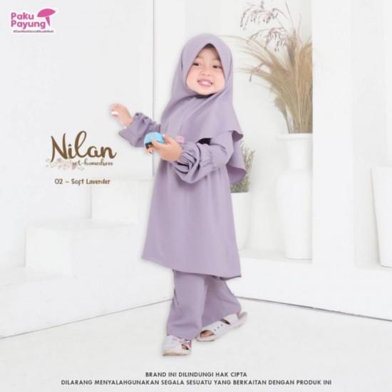 Gamis Anak Nilan Series Soft Lavender