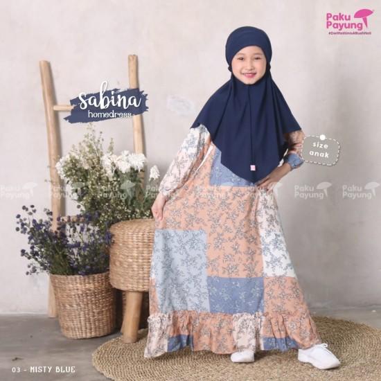 Gamis Anak Sabina Series Misty Blue