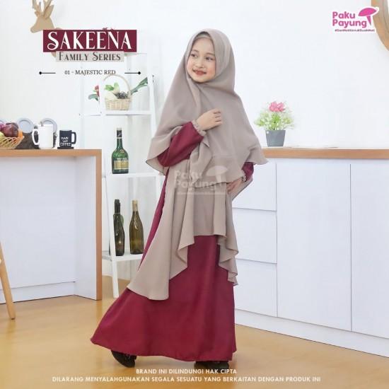 Gamis Anak Sakeena Series Majestic Red