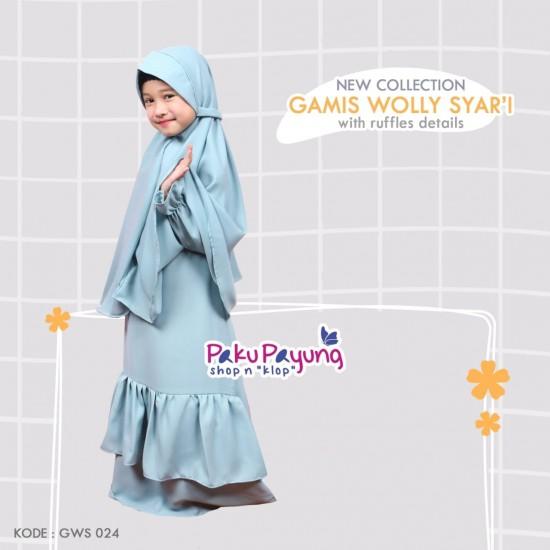 Gamis Anak Wolly Syari GWS-024