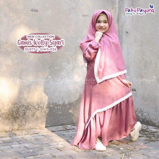 Gamis Anak Wolly Syari Dusty GWS-026