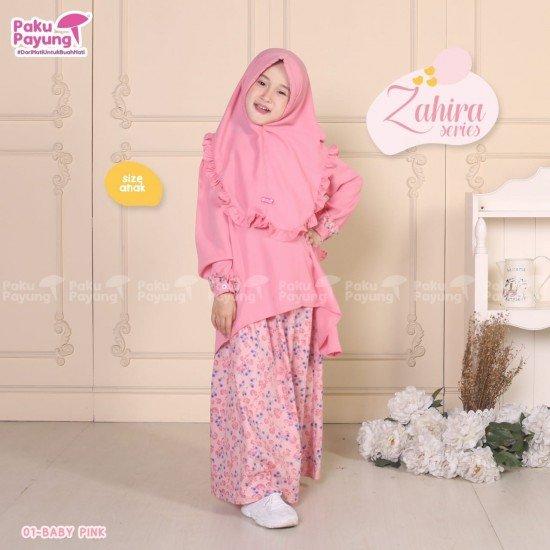 Gamis Anak Zahira Series Baby Pink