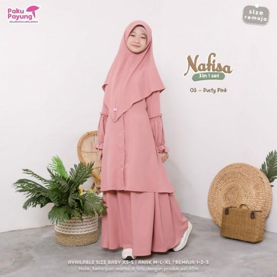 Gamis Remaja Nafisa Series Dusty Pink