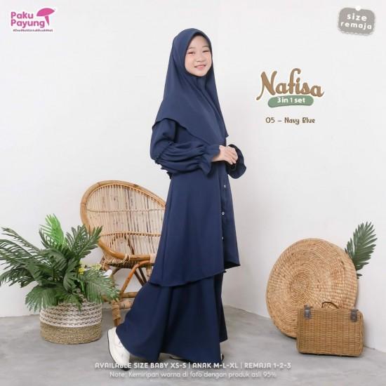 Gamis Remaja Nafisa Series Navy Blue