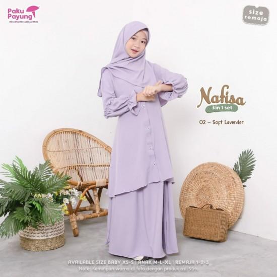 Gamis Remaja Nafisa Series Soft Lavender