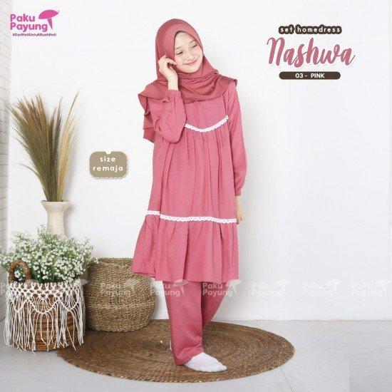 Gamis Remaja Nashwa Series Pink