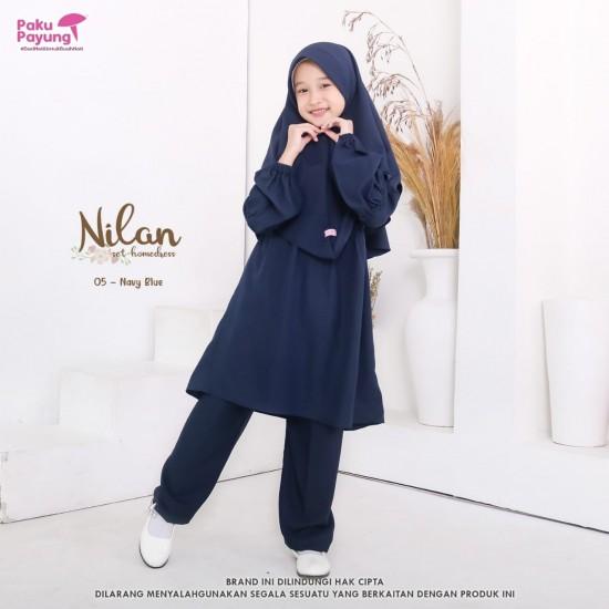 Gamis Remaja Nilan Series Navy Blue