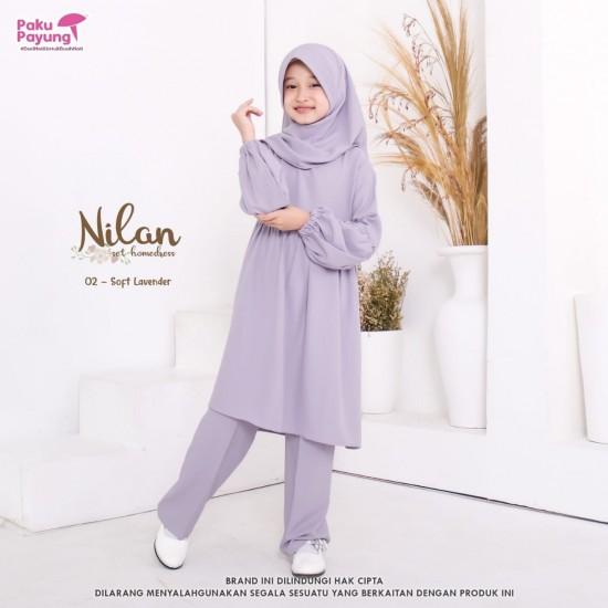 Gamis Remaja Nilan Series Soft Lavender