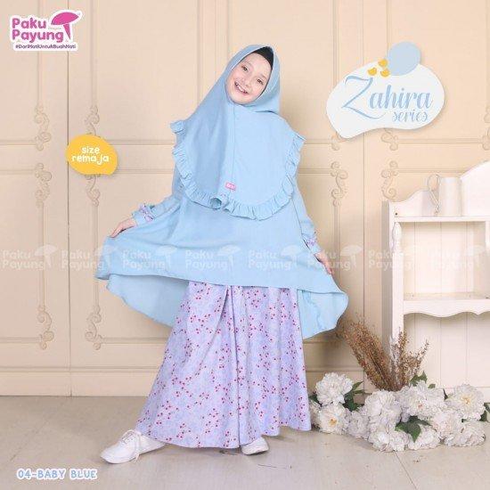 Gamis Remaja Zahira Series Baby Blue