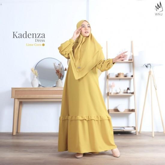 Gamis Dewasa Kadenza Dress Gold Lime Corn
