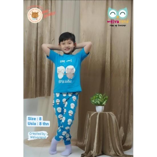 Baju Anak Owl Series Boys Biru