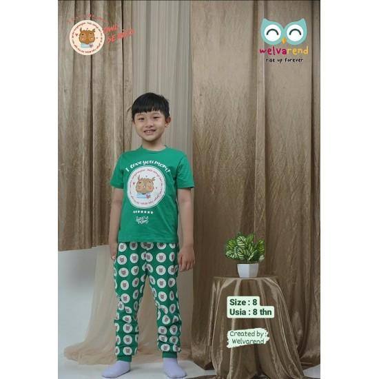 Baju Anak Owl Series Boys Hijau