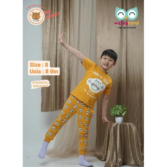 Baju Anak Owl Series Boys Orange