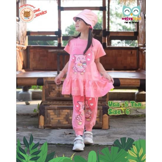Baju Anak Owl Series Girls Peach
