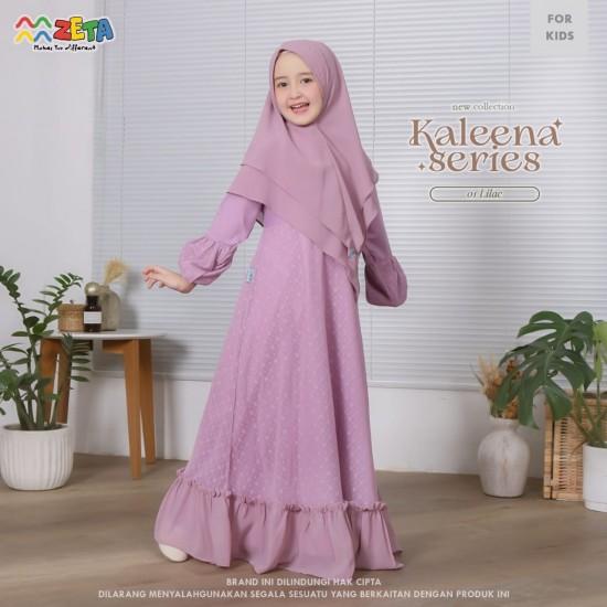 Gamis Anak Kaleena Series Lilac