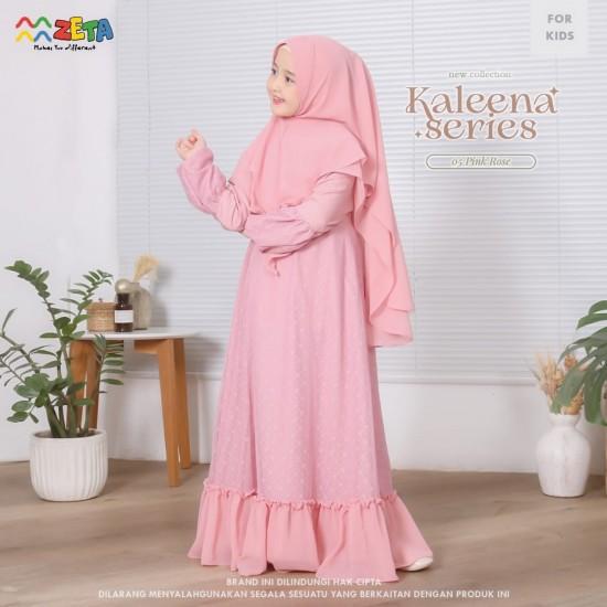 Gamis Anak Kaleena Series Pink Rose