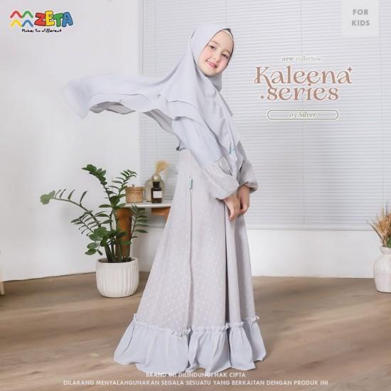 Gamis Anak Kaleena Series Silver