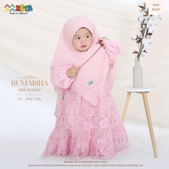 Gamis Anak Rumaisha Series Baby Pink