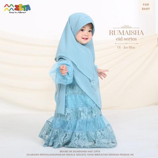 Gamis Anak Rumaisha Series Ice Blue