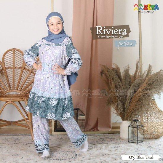 Home Dress Remaja Riviera Series Blue Teal
