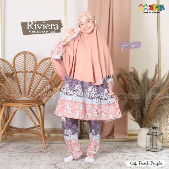 Home Dress Remaja Riviera Series Peach Purple