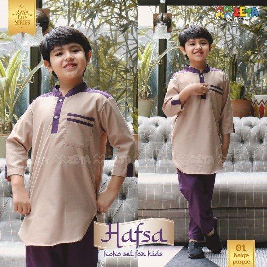 Koko Anak Hafsa Beige Purple